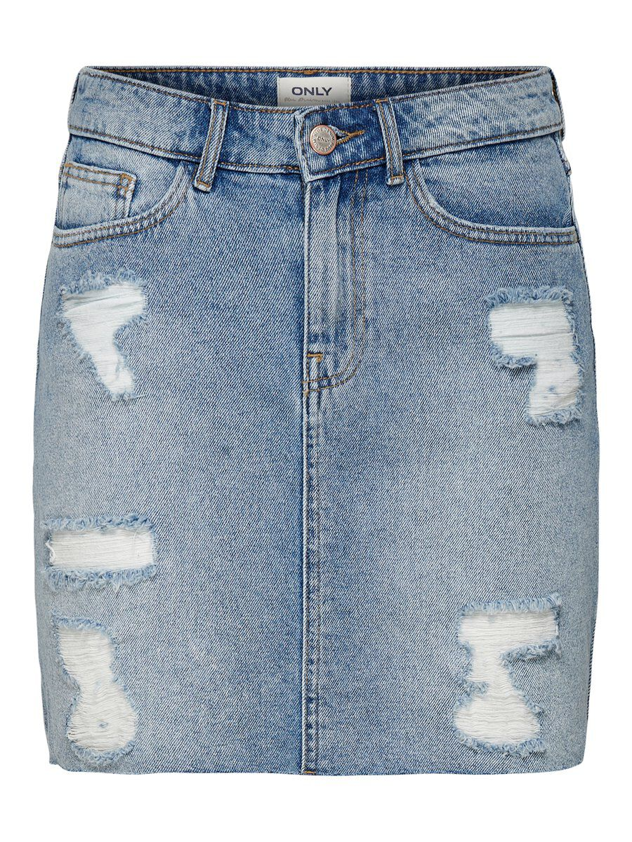 ONLY Destroy Jeansrock Damen Blau
