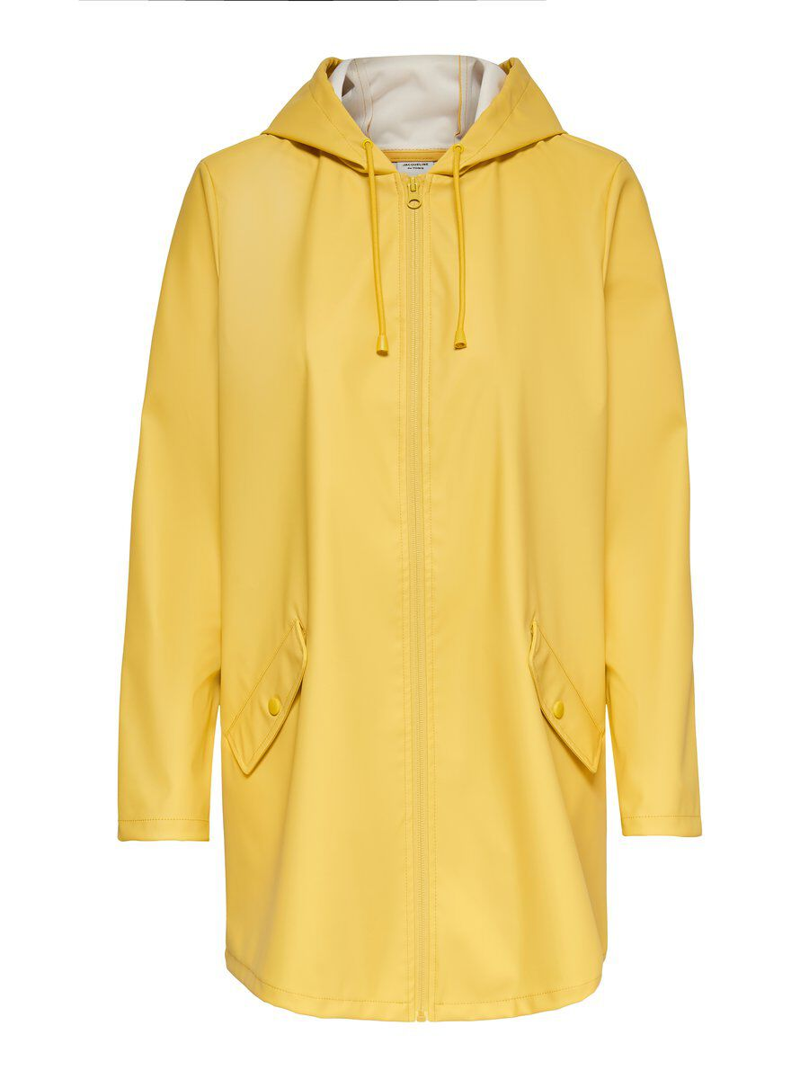ONLY Solid Colored Rain Jacket Damen Gelb