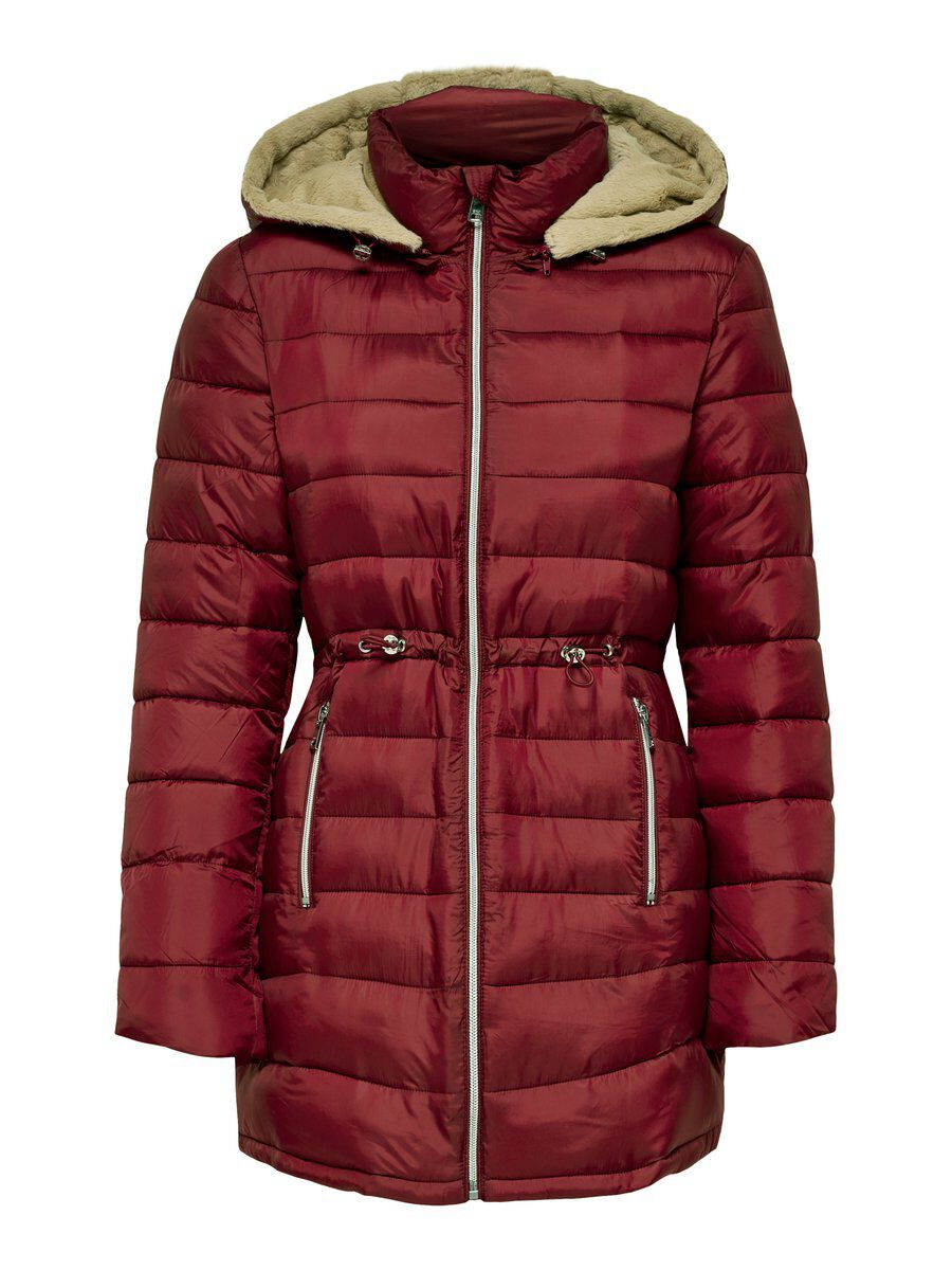ONLY Lange Steppjacke Damen Brown; Red