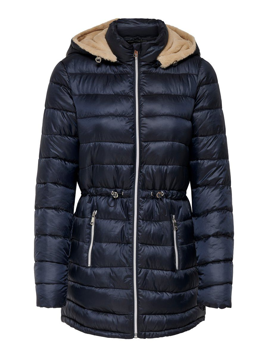 ONLY Lange Steppjacke Damen Blau