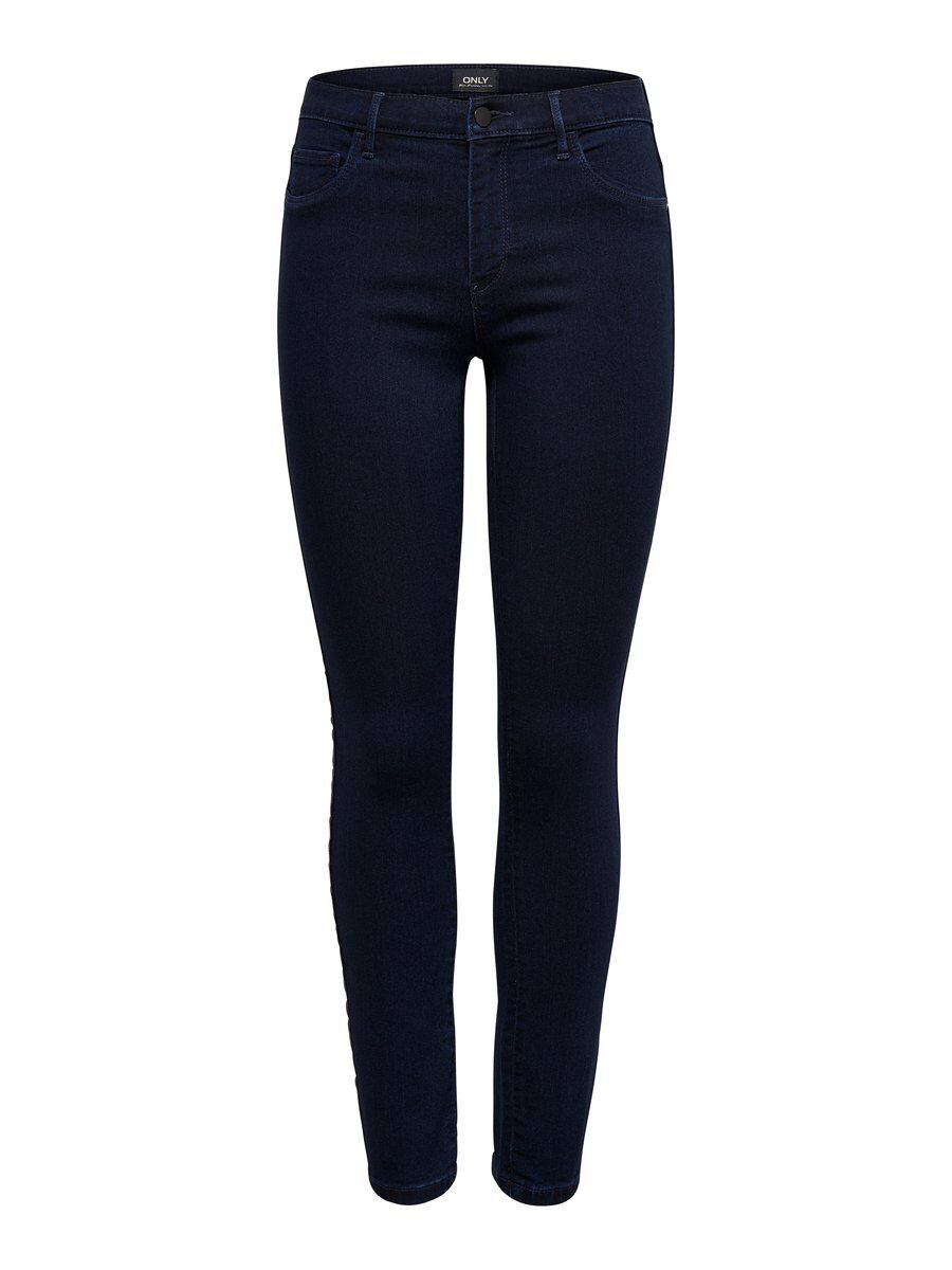 ONLY Elsa Reg Zax Panel Ankle Skinny Fit Jeans Damen Blau