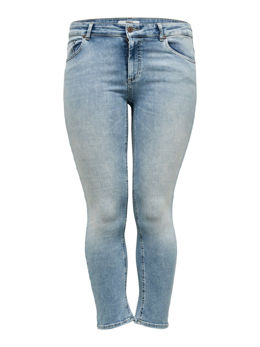 ONLY Curvy Willy Reg Ankle Straight Fit Jeans Damen Blau