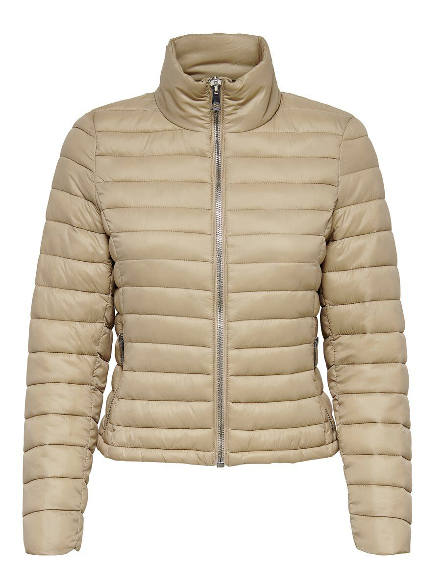ONLY Short Quilted Jacket Damen Beige