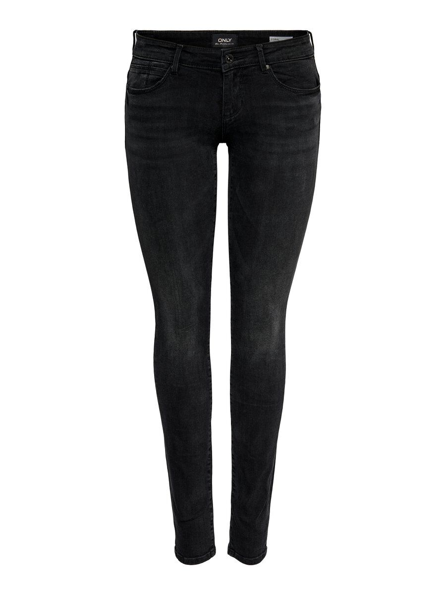 ONLY Onlfcoral Sl Skinny Fit Jeans Damen Schwarz