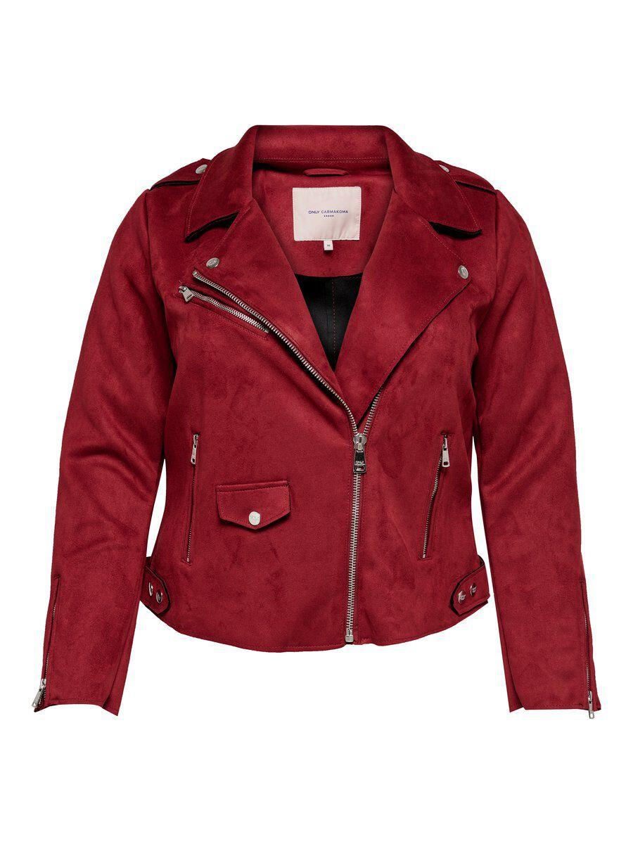 ONLY Curvy Biker Jacke Damen Brown; Red