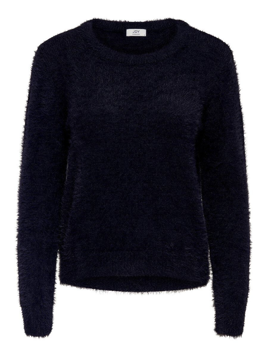 ONLY Solid Color Knitted Pullover Women Blue