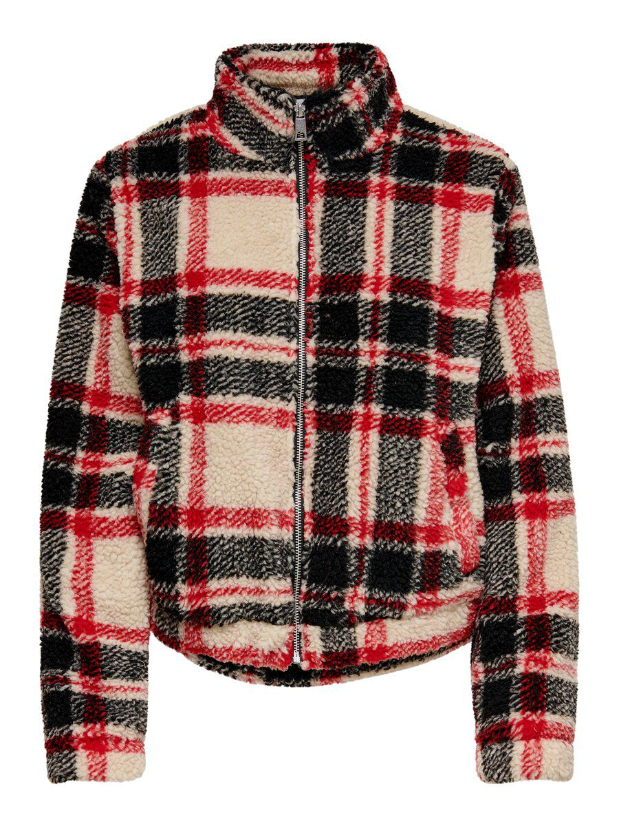 ONLY Checked Jacket Damen White