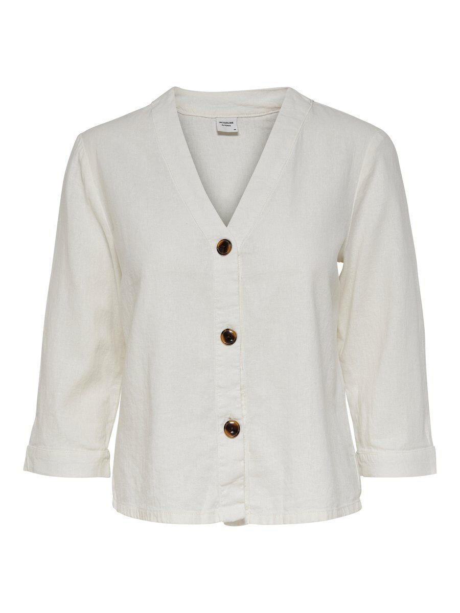 ONLY Button 3/4 Sleeved Top Damen White
