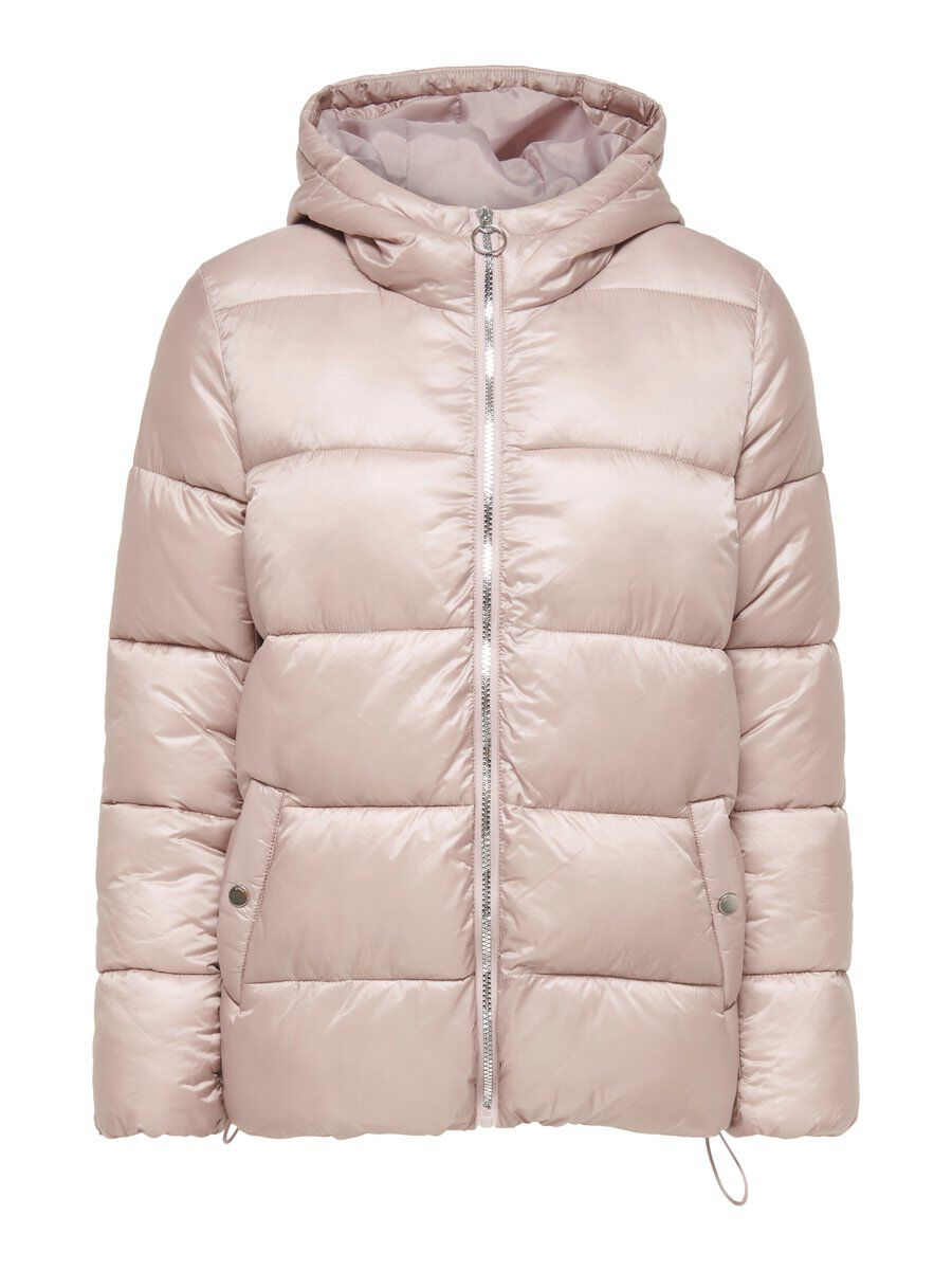 ONLY Hooded Quilted Jacket Women Grey