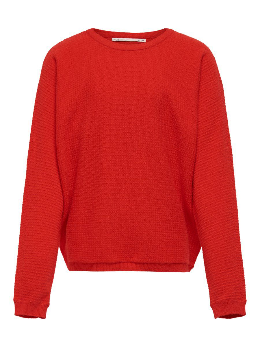 ONLY Fledermaus Strickpullover Damen Rot