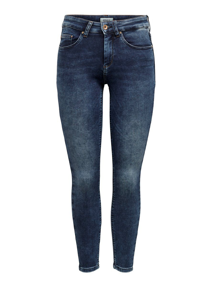 ONLY Onlhush Mid Ankle Jogg Skinny Fit Jeans Damen Blau