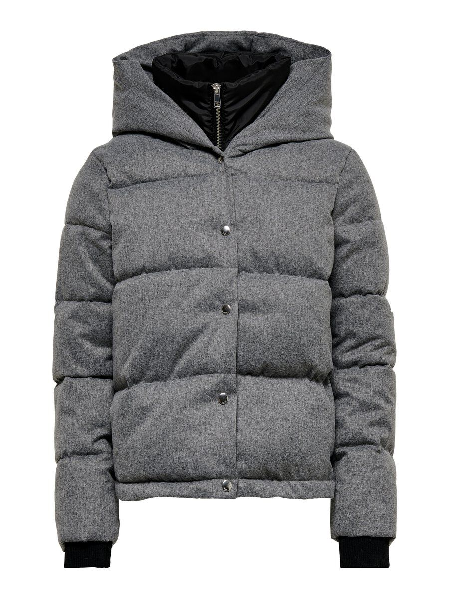 ONLY Kapuzen Steppjacke Damen Grau