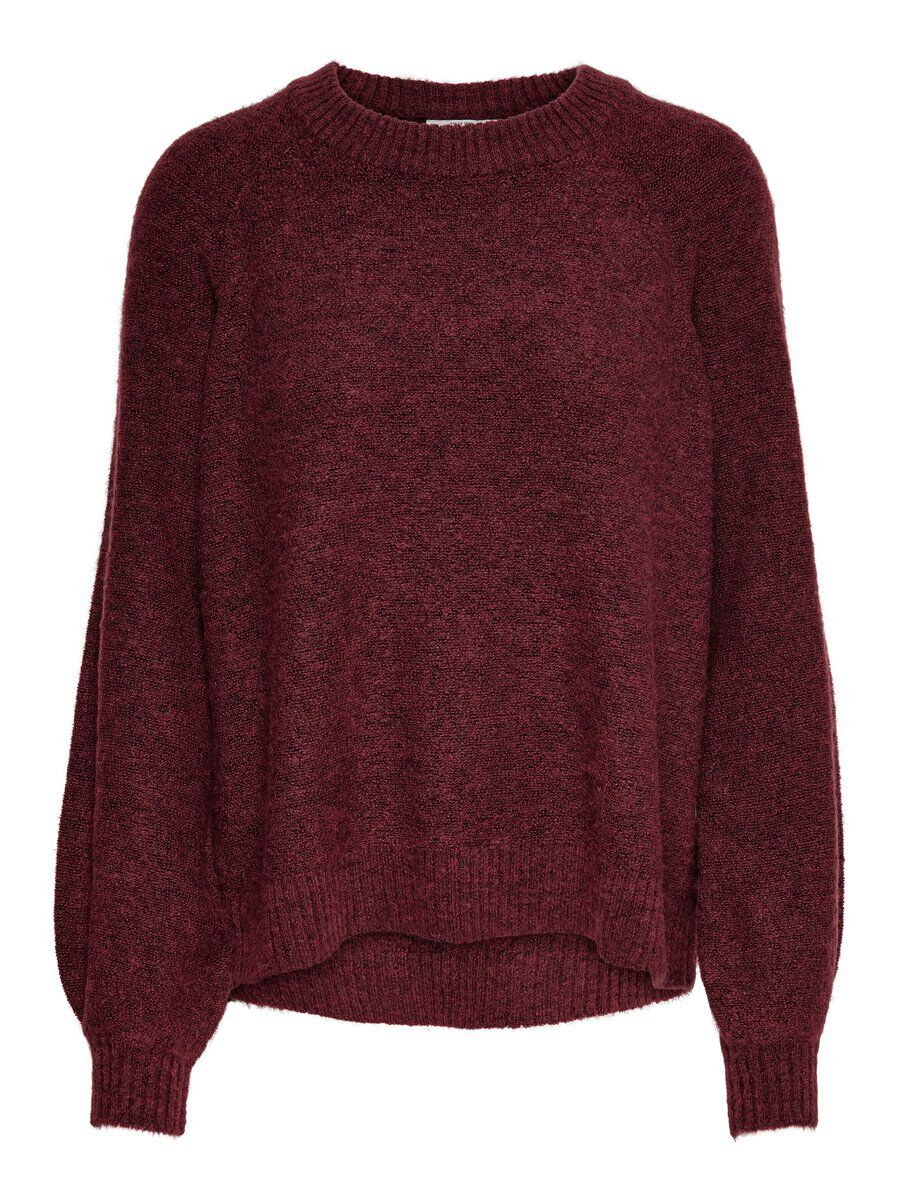 ONLY Locker Gestrickter Pullover Damen Rot