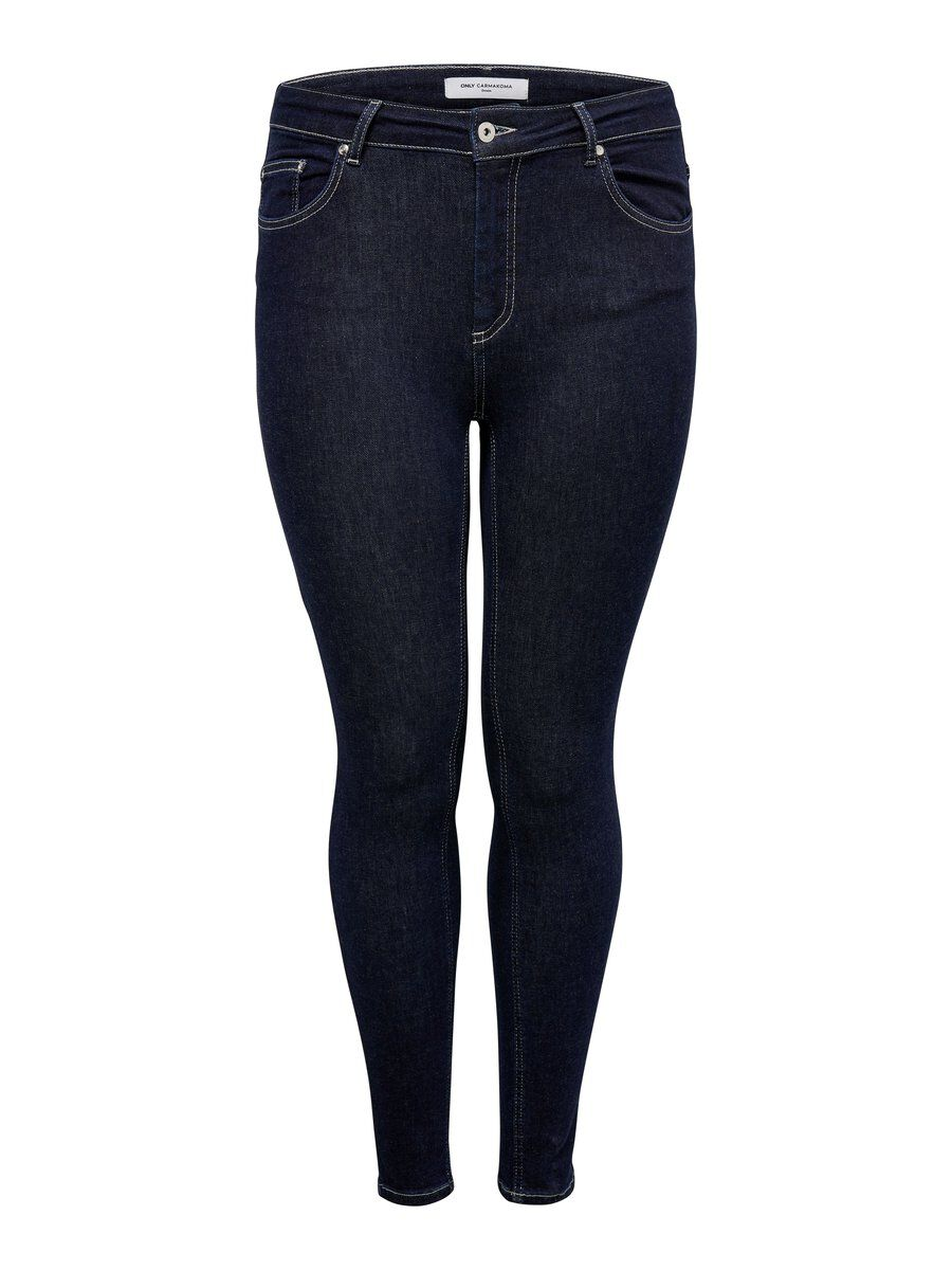 ONLY Curvy Carwilly Reg Slim Fit Jeans Damen Blau
