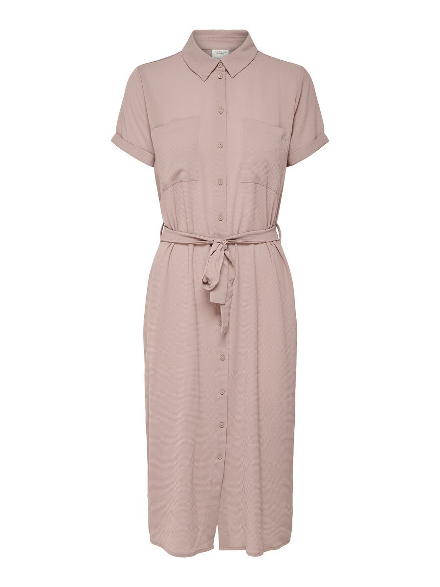 ONLY Kurzärmeliges Midi Kleid Damen Pink