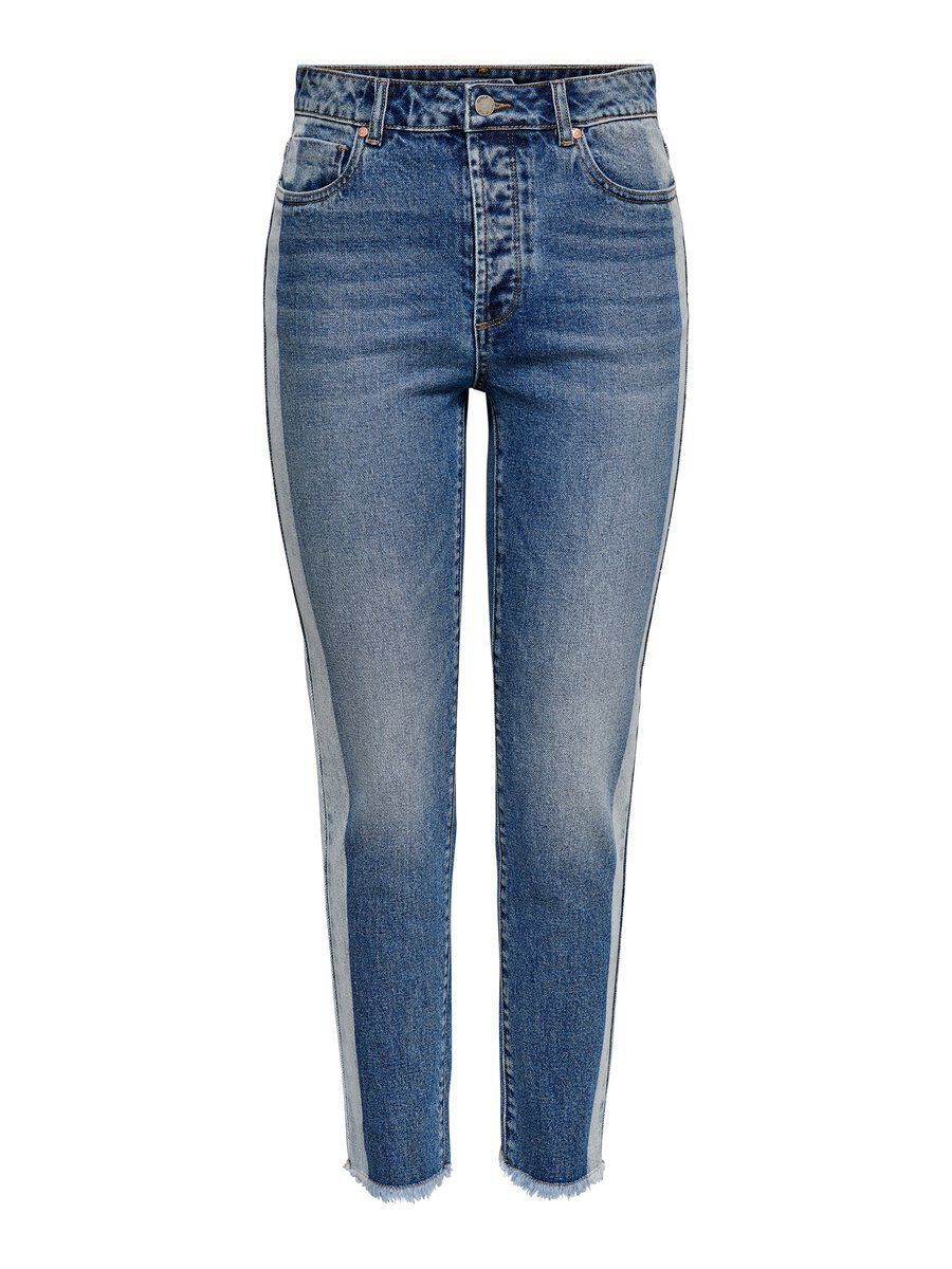 ONLY Onlemily Hw Ankle Straight Fit Jeans Damen Blau