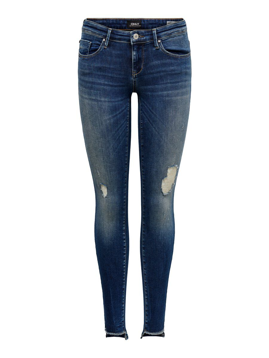 ONLY Onlcoral Sl Ankle Skinny Fit Jeans Damen Blau