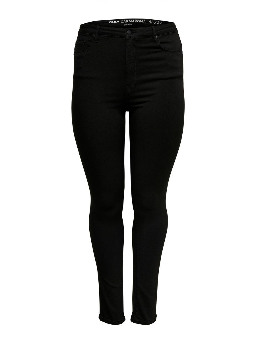 ONLY Curvy 4ever Black Skinny Fit Jeans Damen Schwarz