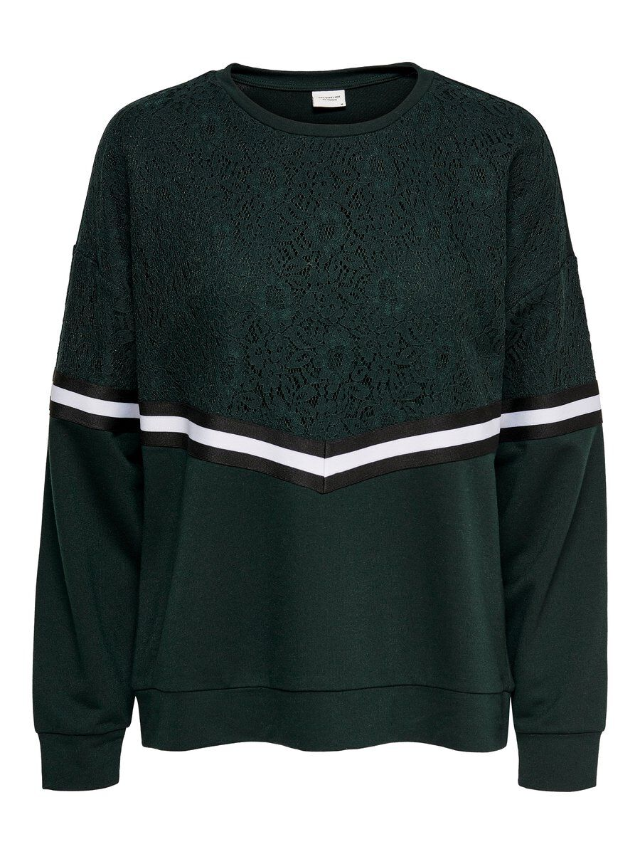 ONLY Spitzen Sweatshirt Damen Grün