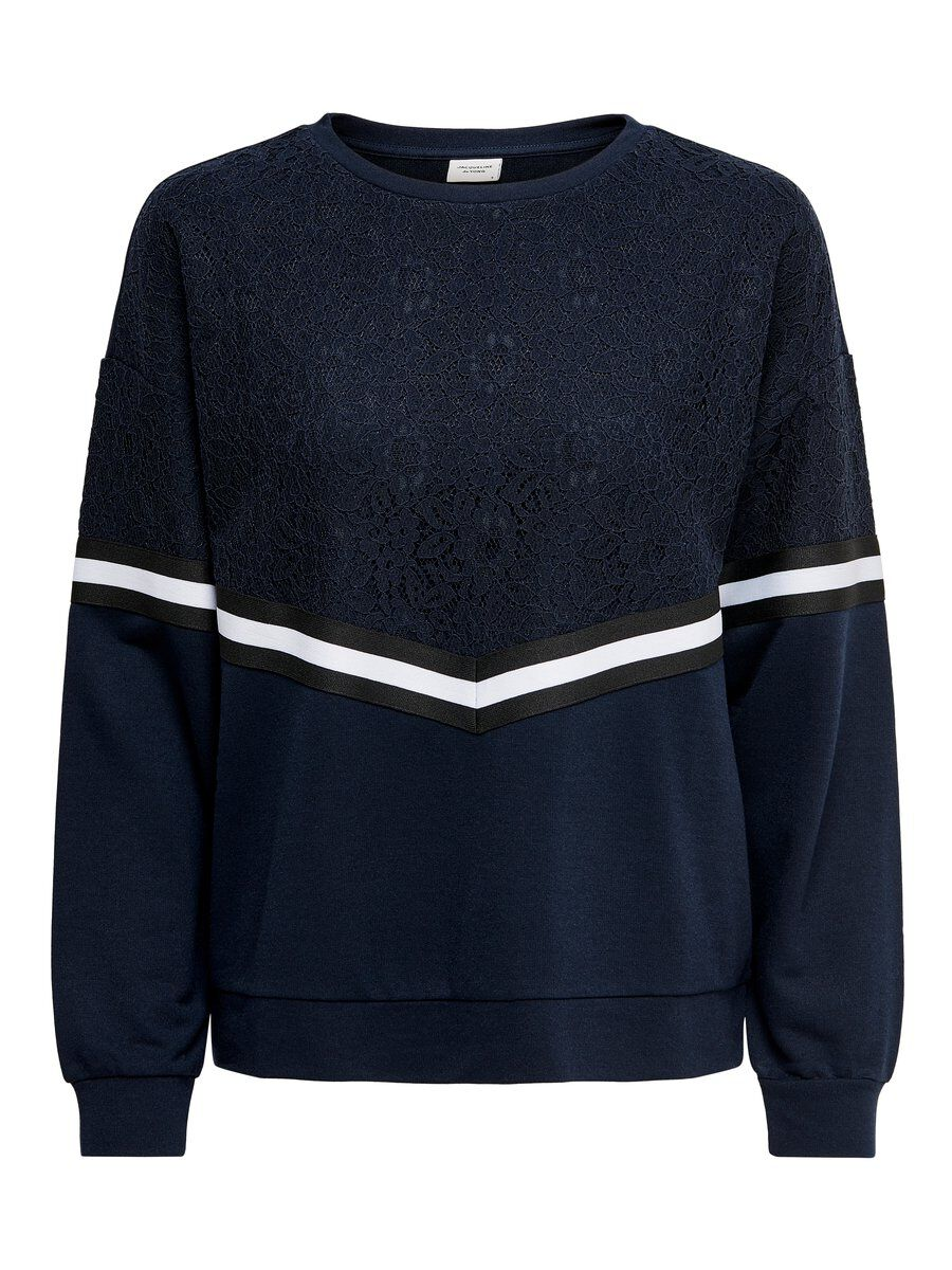 ONLY Spitzen Sweatshirt Damen Blau