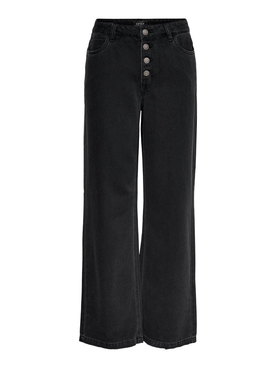 ONLY Onlmolly Hw Wide Long Straight Fit Jeans Damen Schwarz