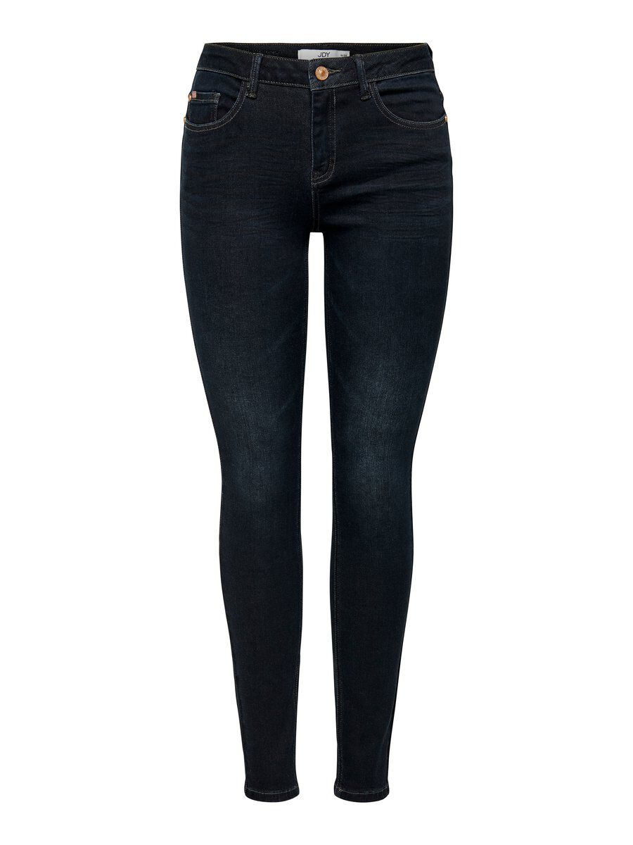 ONLY Jdycarola Reg Super Str Dark Blue Skinny Fit Jeans Damen Blau