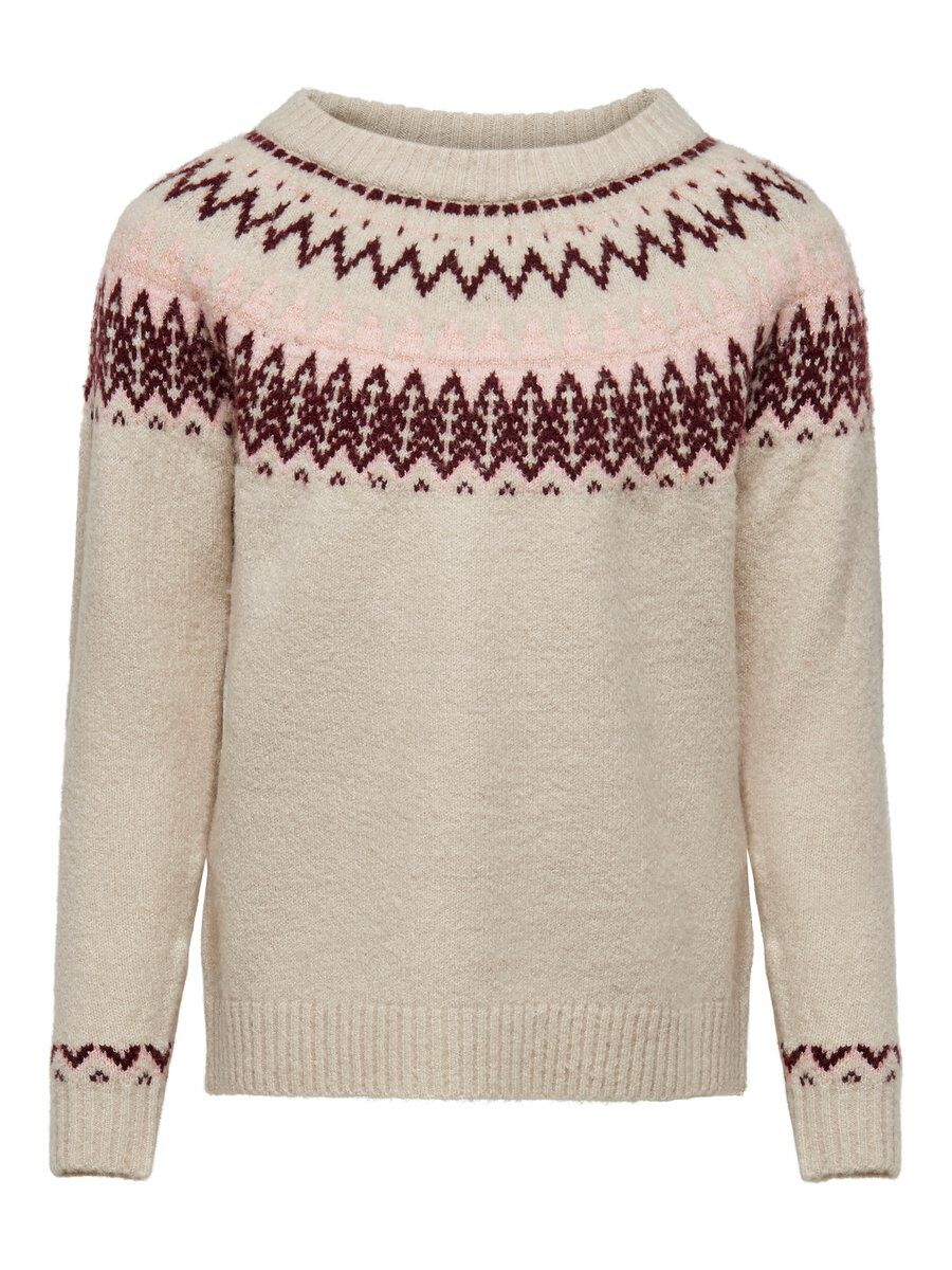 ONLY Muster Strickpullover Damen White