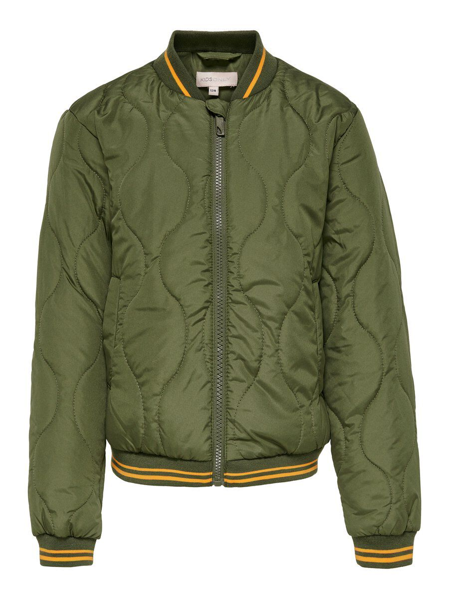 ONLY Bomber Quilted Jacket Women Green