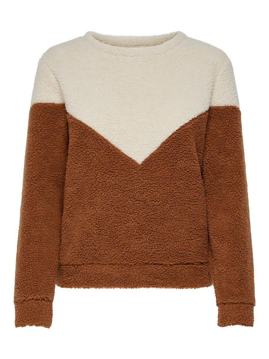 ONLY Teddy Sweatshirt Damen Grau