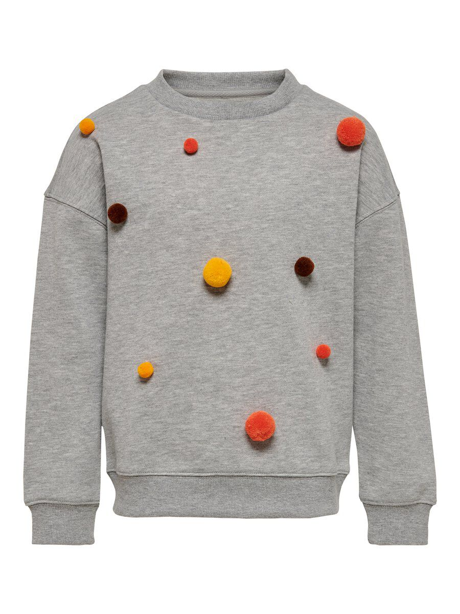 ONLY Bommel Sweatshirt Damen Grau