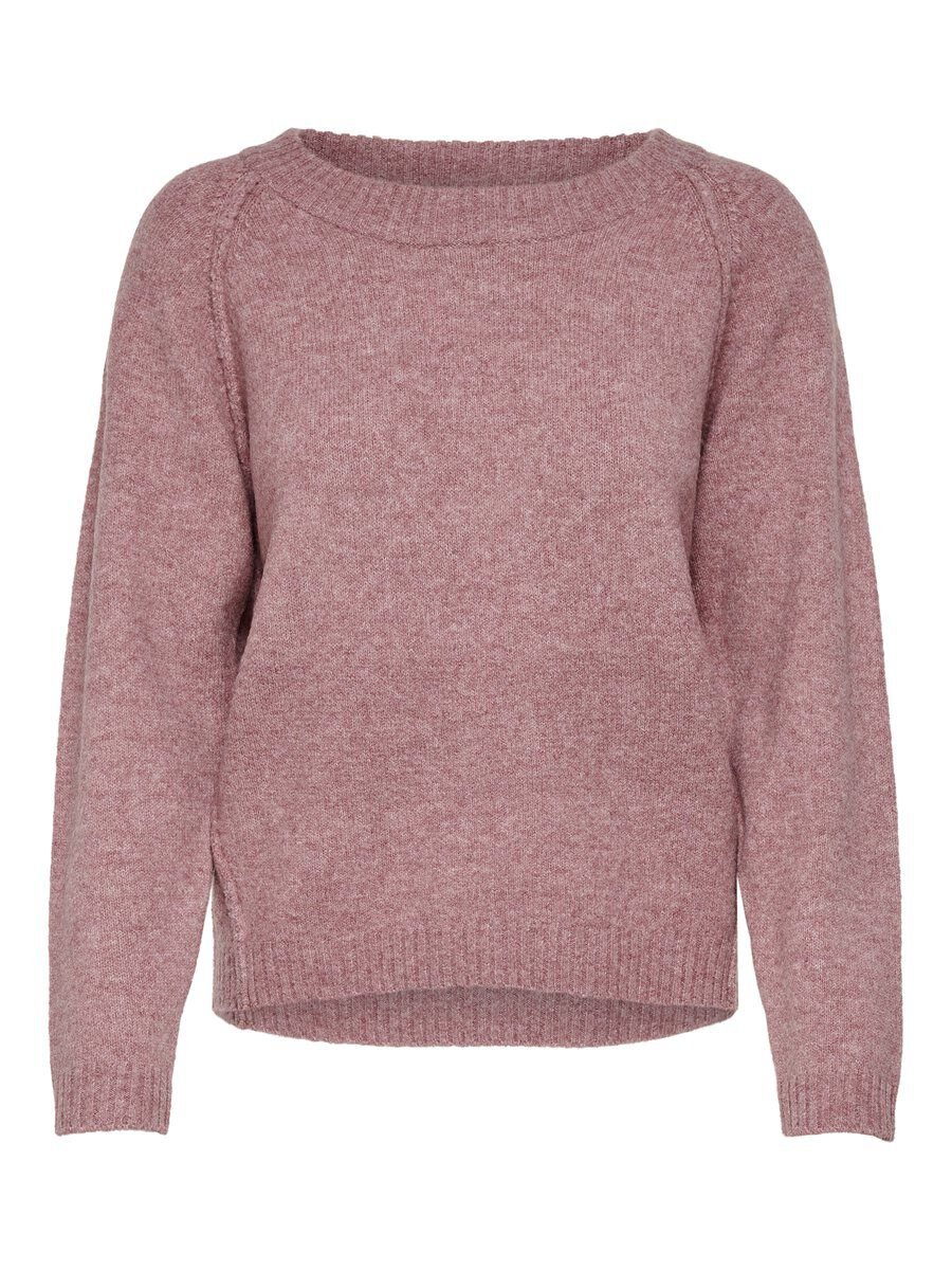 ONLY Solid Color Knitted Pullover Damen Pink