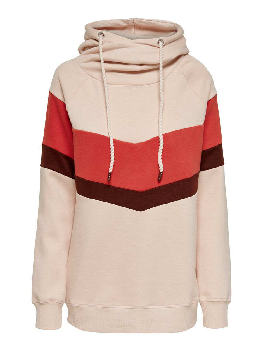 ONLY Kontrastfarbiges Sweatshirt Damen Pink