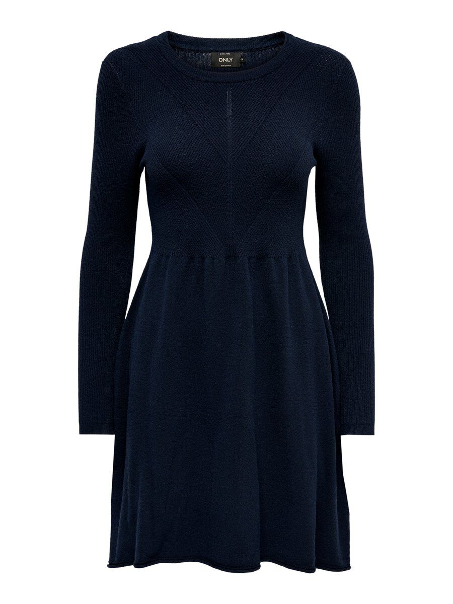 ONLY Strick Kleid Damen Blau