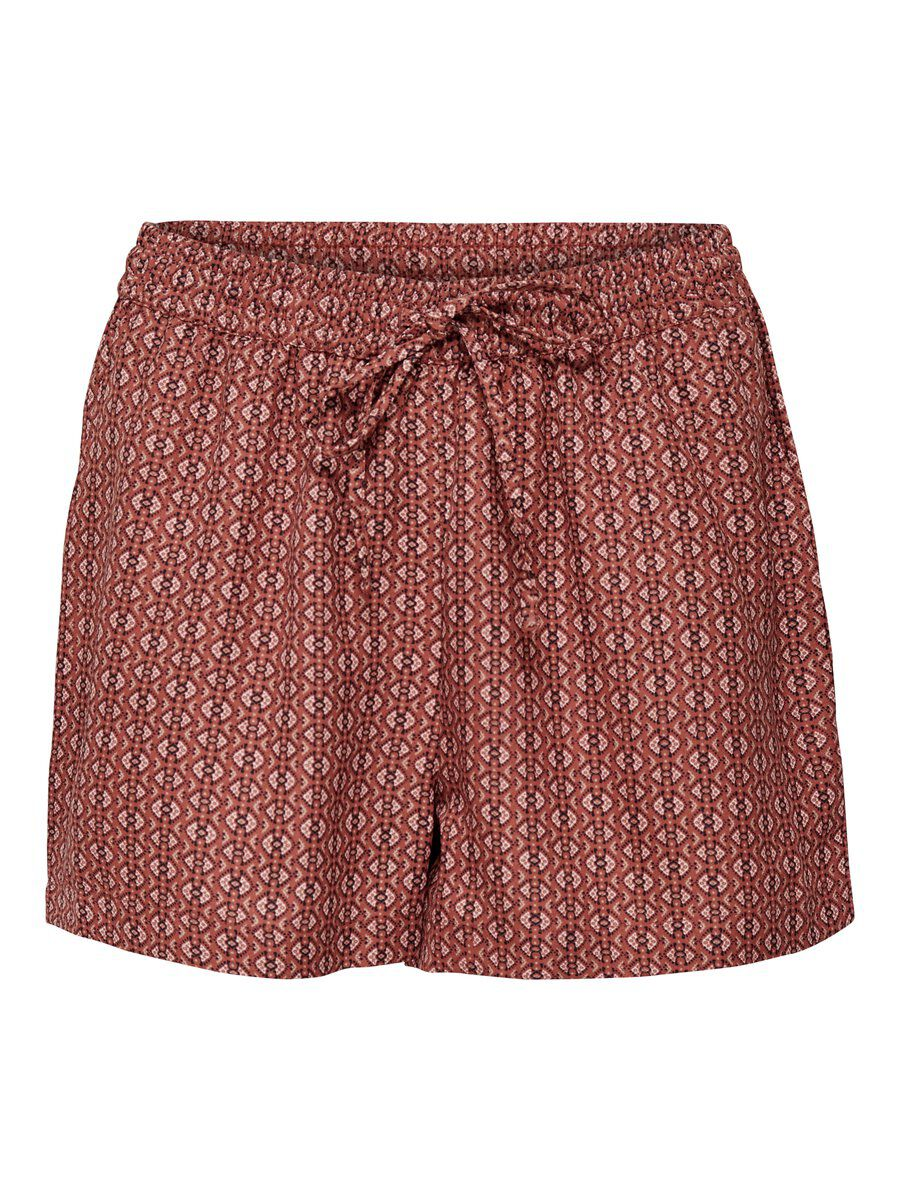 ONLY Printed Shorts Women Brown