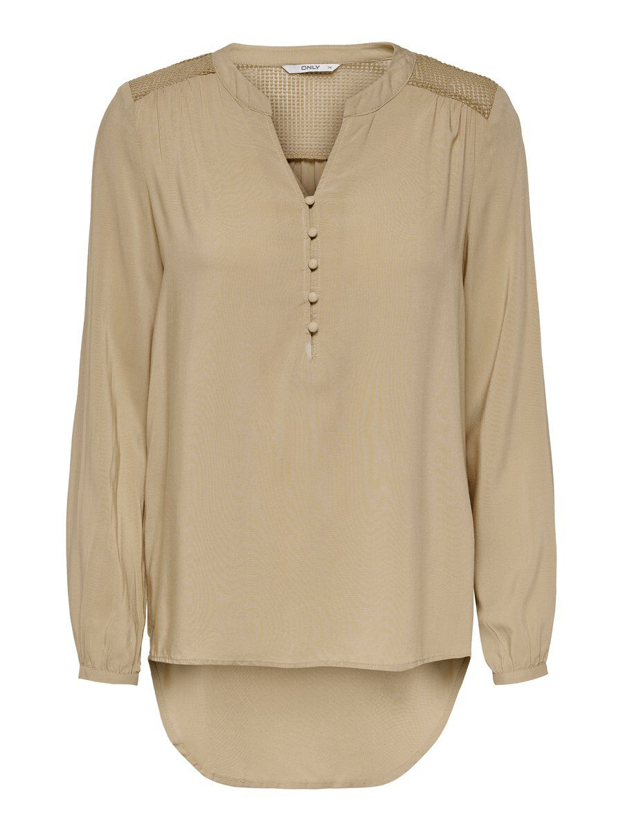 ONLY Lockeres Hemd Damen Beige