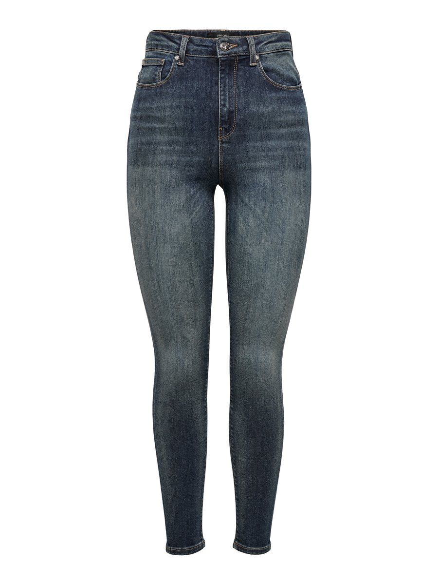 ONLY Onqposh Hw Skinny Fit Jeans Damen Blau