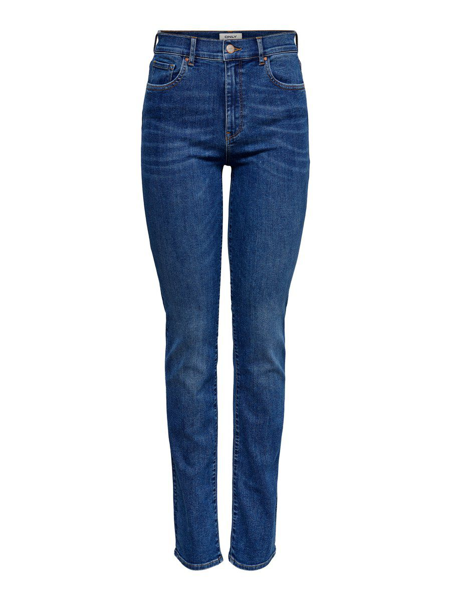 ONLY Onlfnahla Hw Straight Fit Jeans Damen Blau