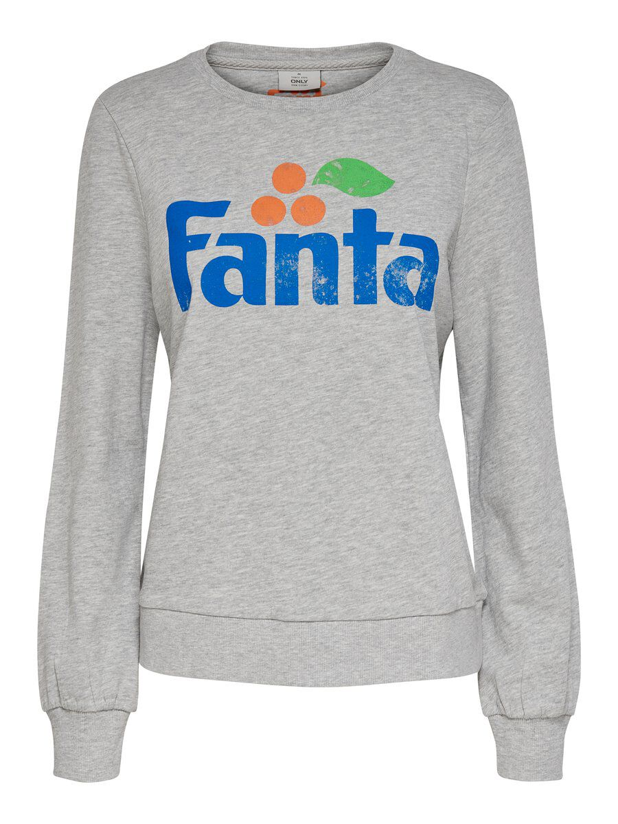 ONLY Fanta Sweatshirt Damen Grau