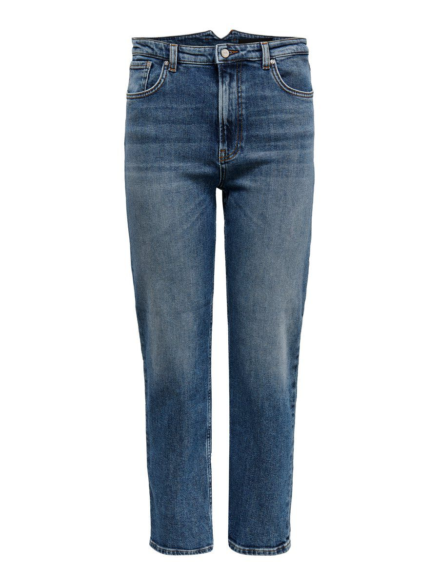 ONLY Onqross Hw Zigaretten Straight Fit Jeans Damen Blau
