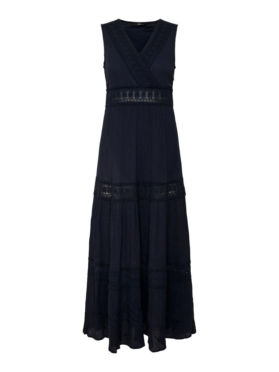ONLY Spitzendetail Maxikleid Damen Blau