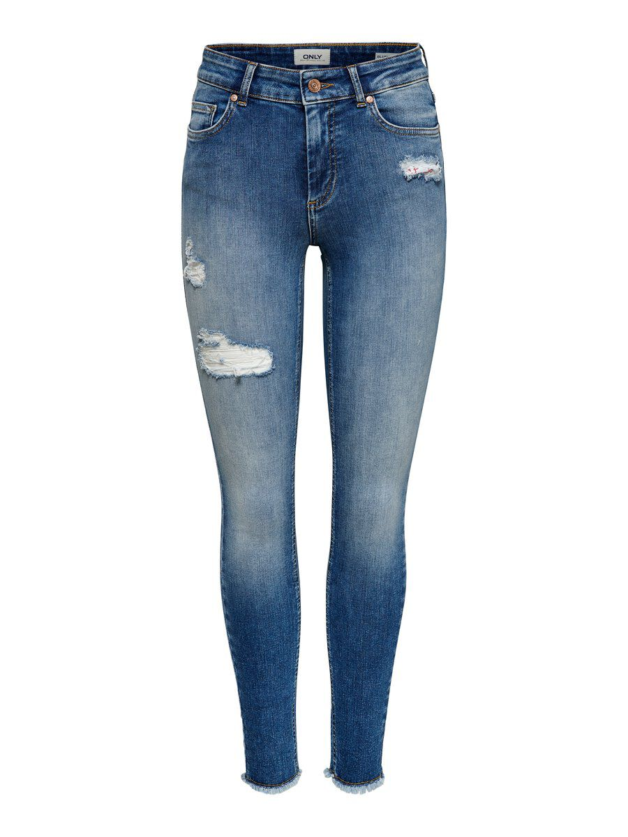 ONLY Onlblush Mid Ankle Skinny Fit Jeans Women Blue