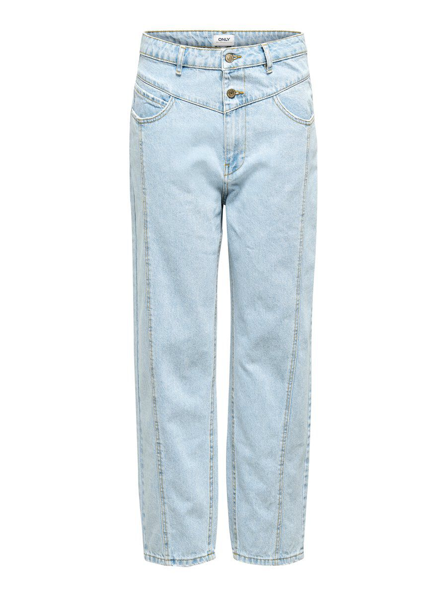 ONLY Onlisla Life Mid Ankle Straight Fit Jeans Damen Blau