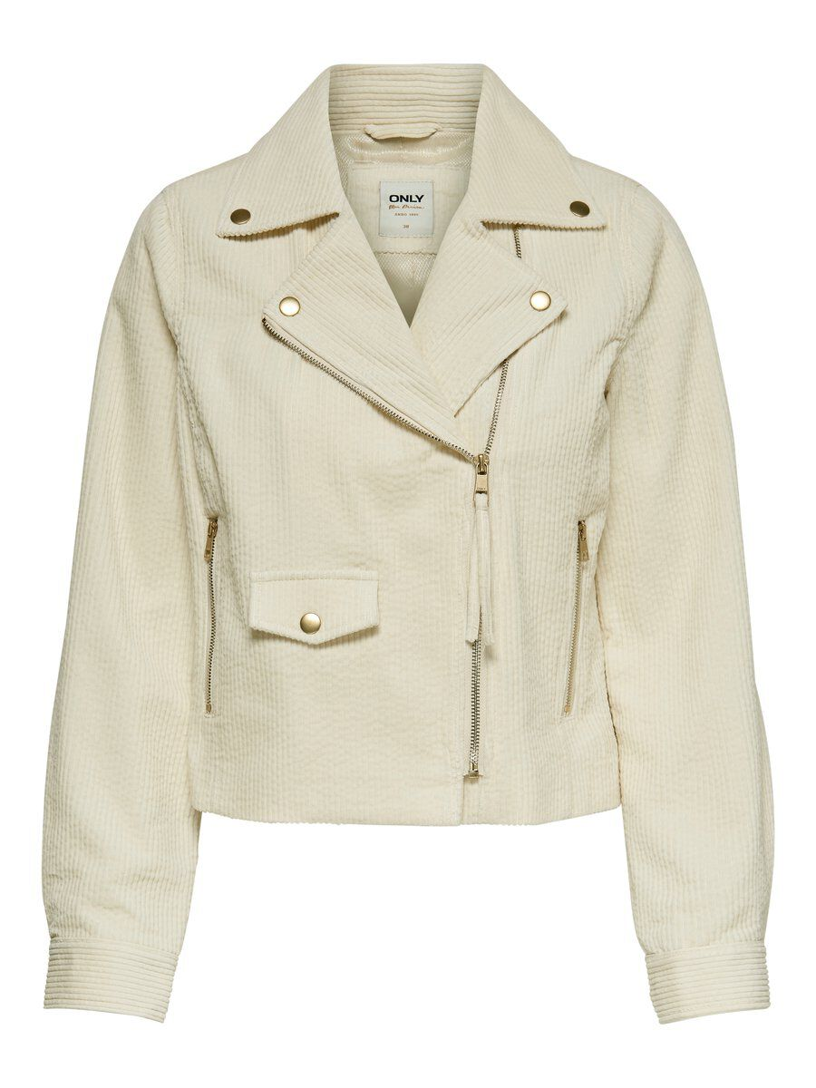 ONLY Biker Cord Jacke Damen White