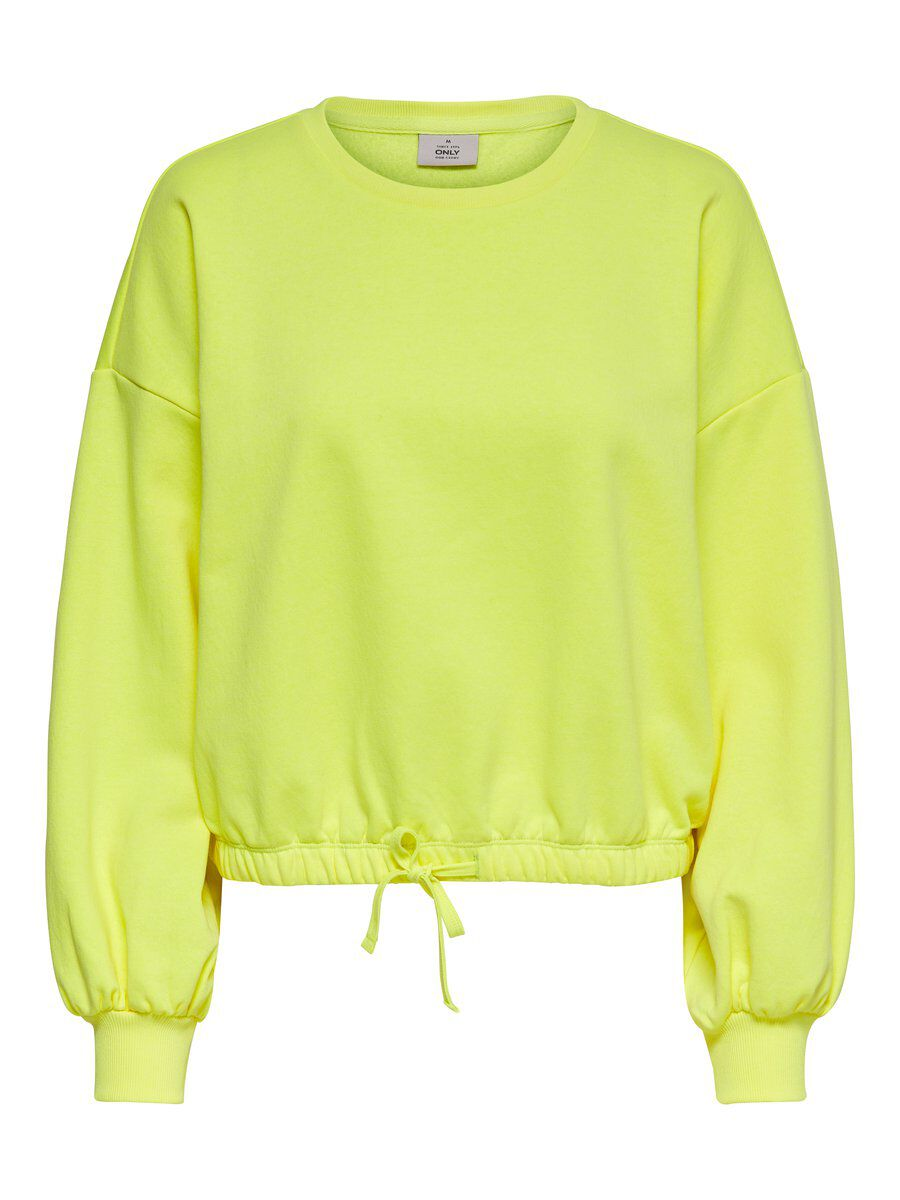 ONLY Neon Sweatshirt Damen Gelb