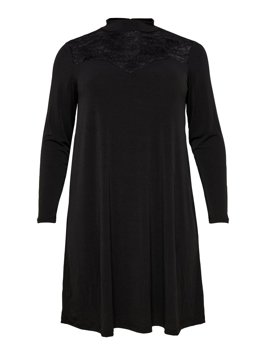 ONLY Lockeres Curvy Kleid Damen Schwarz