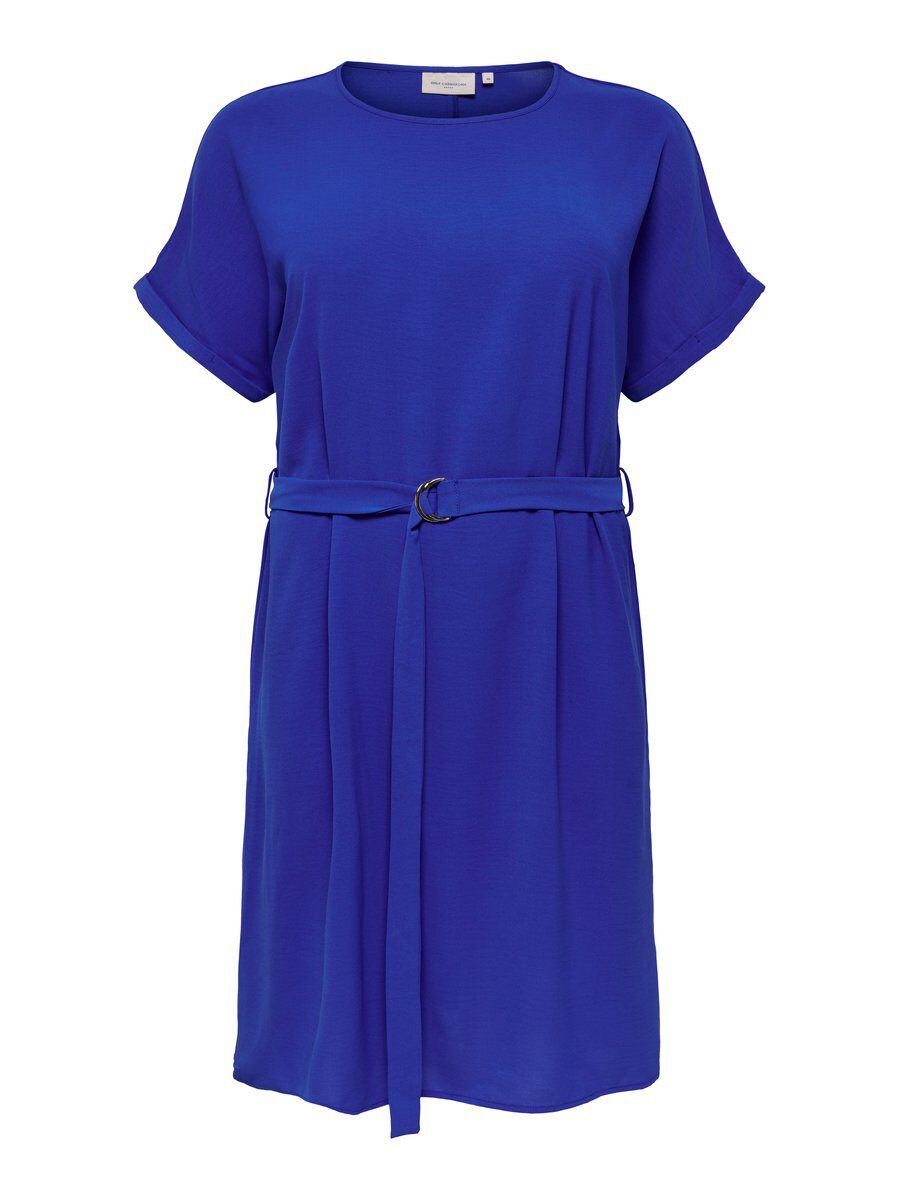 ONLY Einfarbiges Curvy Kleid Damen Blau