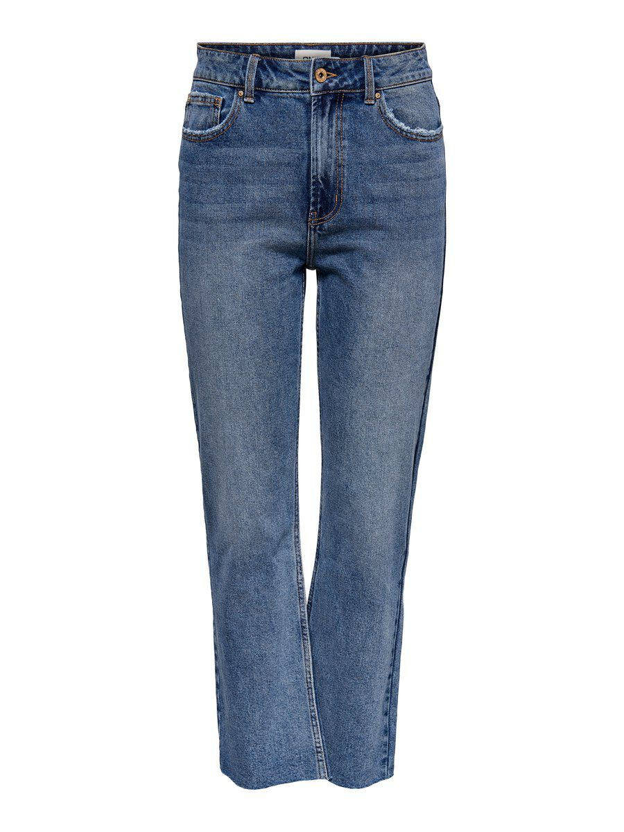 ONLY Onlaspen Hw Straight Fit Jeans Damen Blau