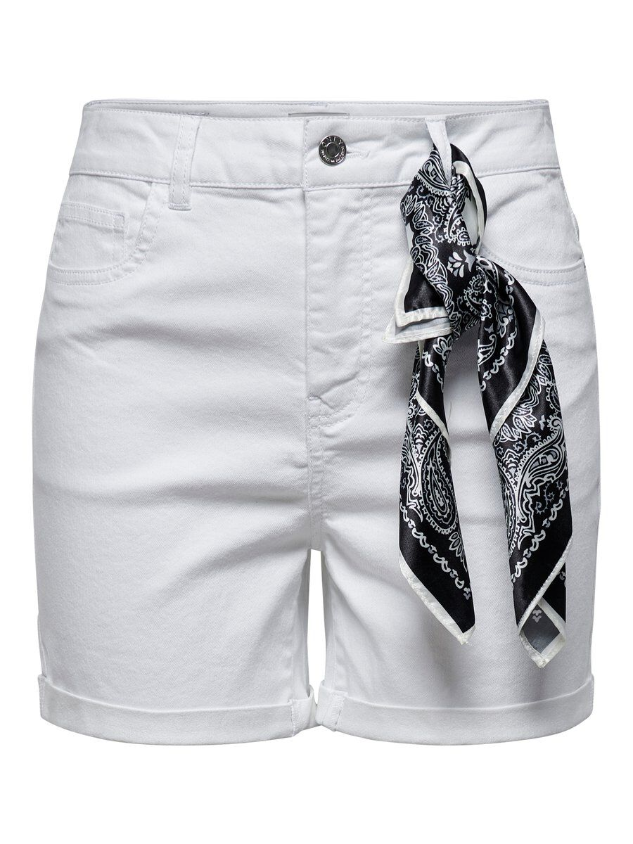 ONLY Foulard Short Women White