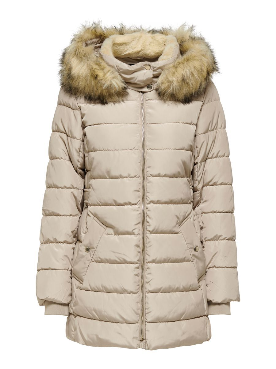 Only Long Quilted Jacket Dames Beige