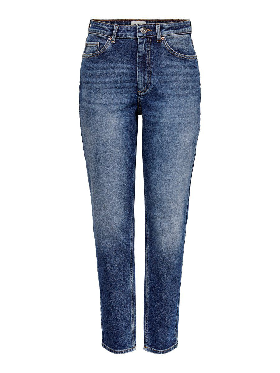 ONLY Onlveneda Mom Jeans Damen Blau